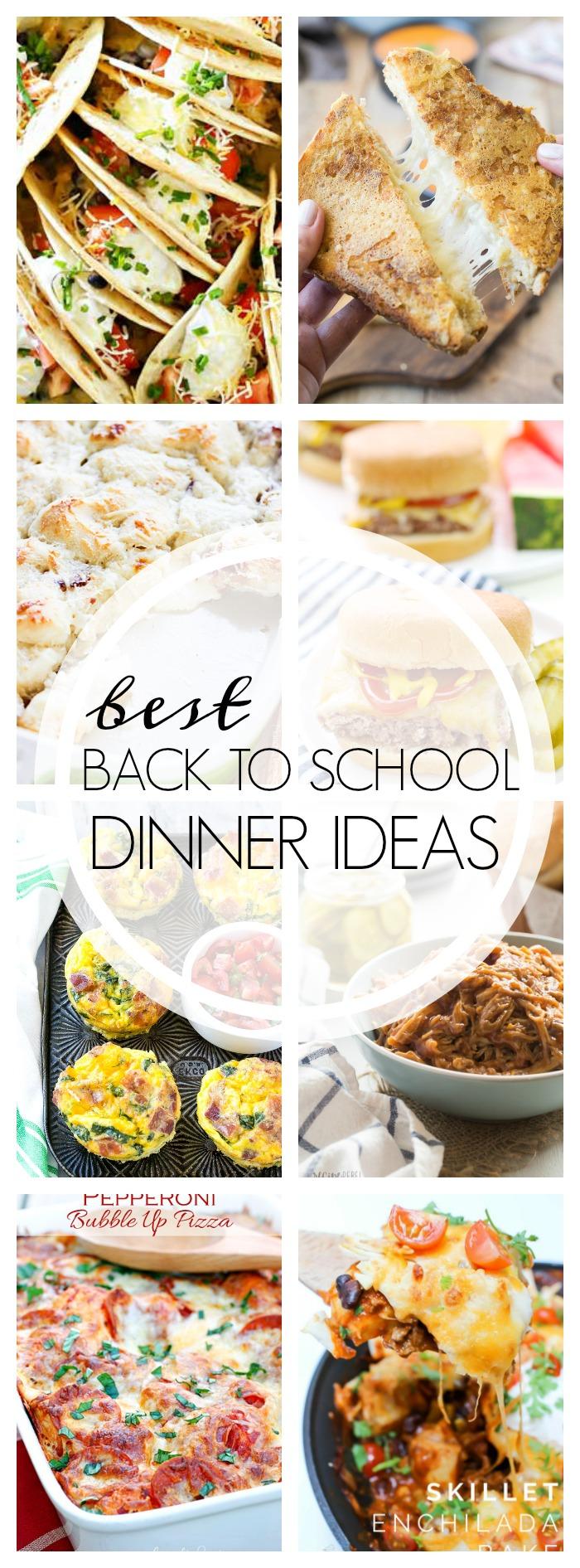 Back to school dinner ideas