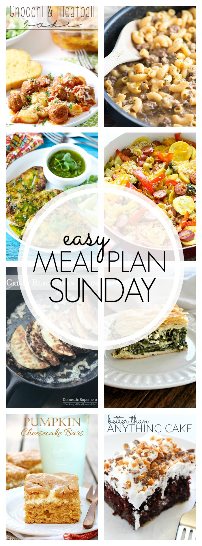 Easy Meal Plan Sunday #67