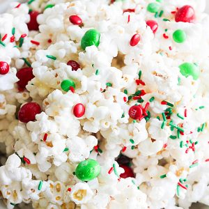Holiday Marshmallow Popcorn