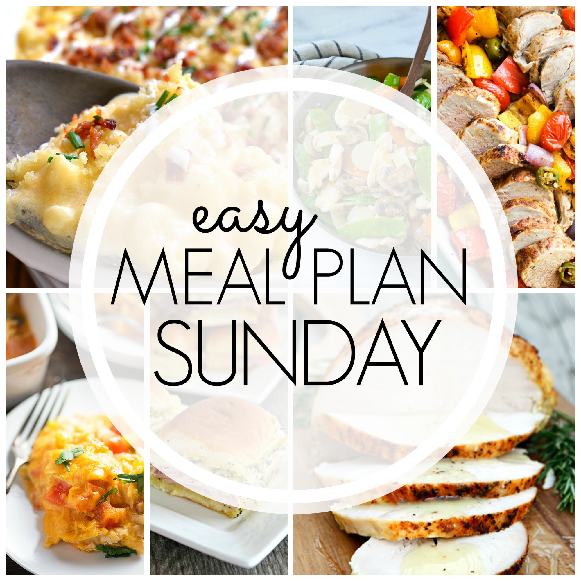 Easy Meal Plan Sunday #74