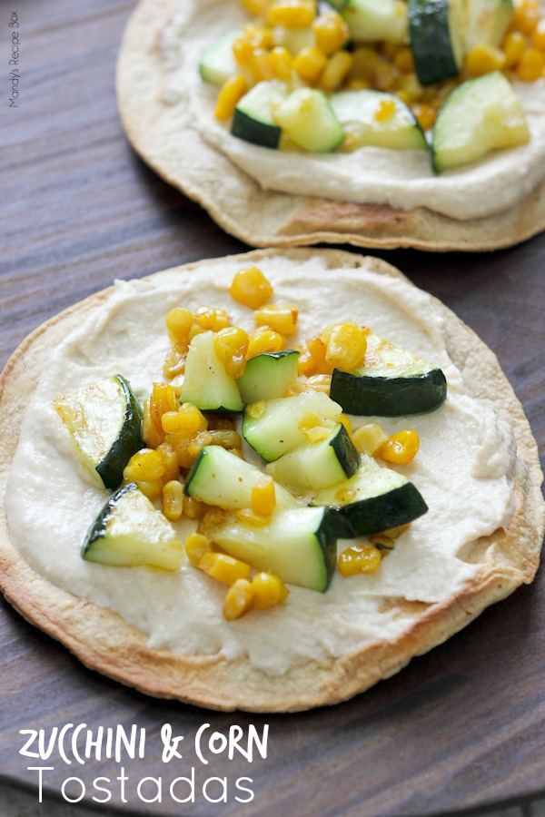 Zucchini and Corn Tostadas