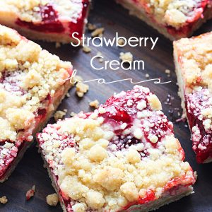 Strawberry Cream Bars