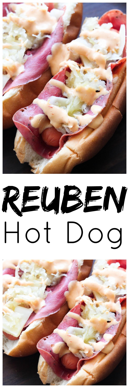 Reuben Hot Dog