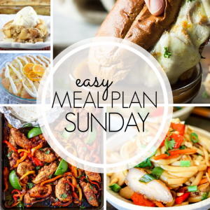 Easy Meal Plan Sunday #95