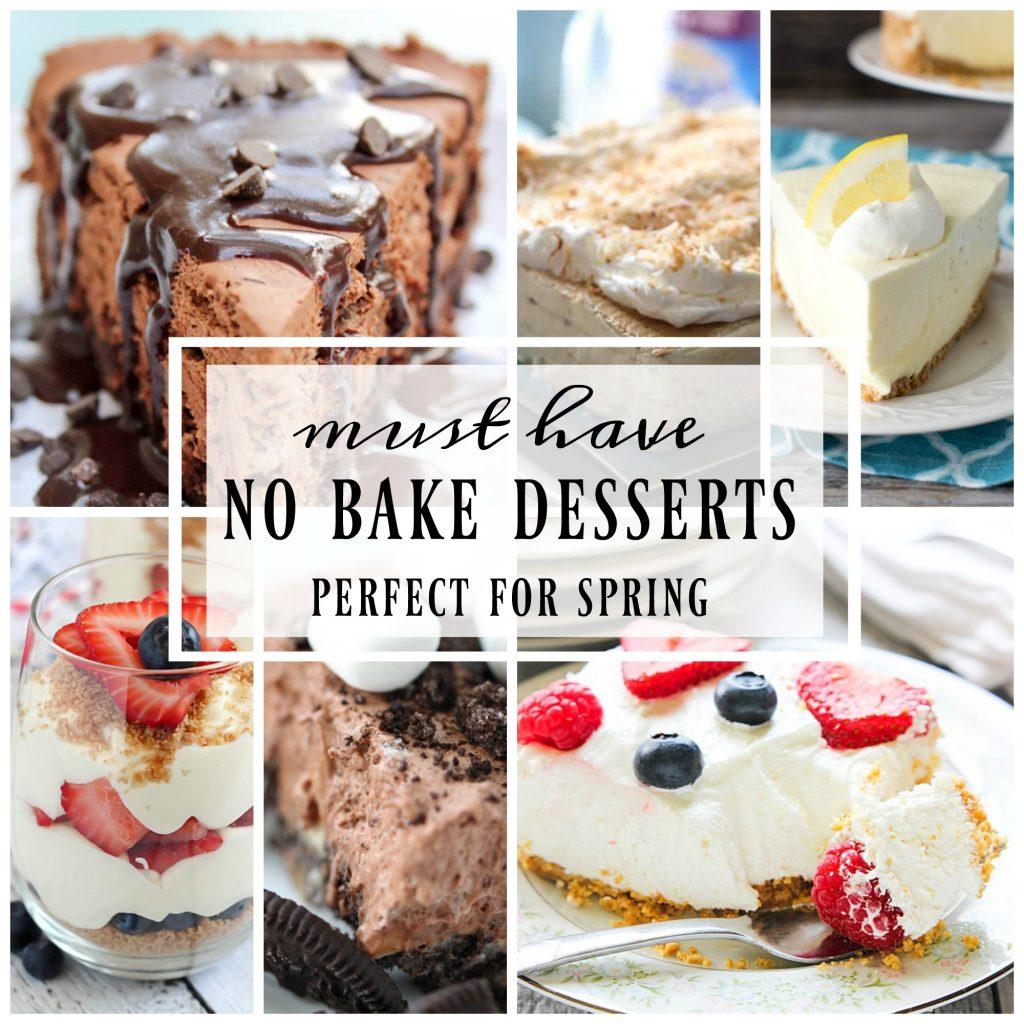 No Bake Desserts for Spring