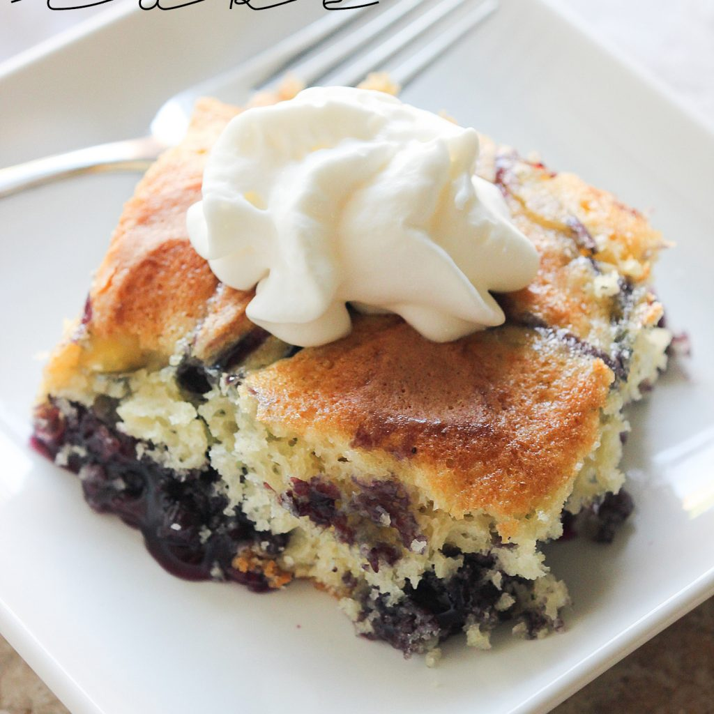 Blueberry Swirl Cake