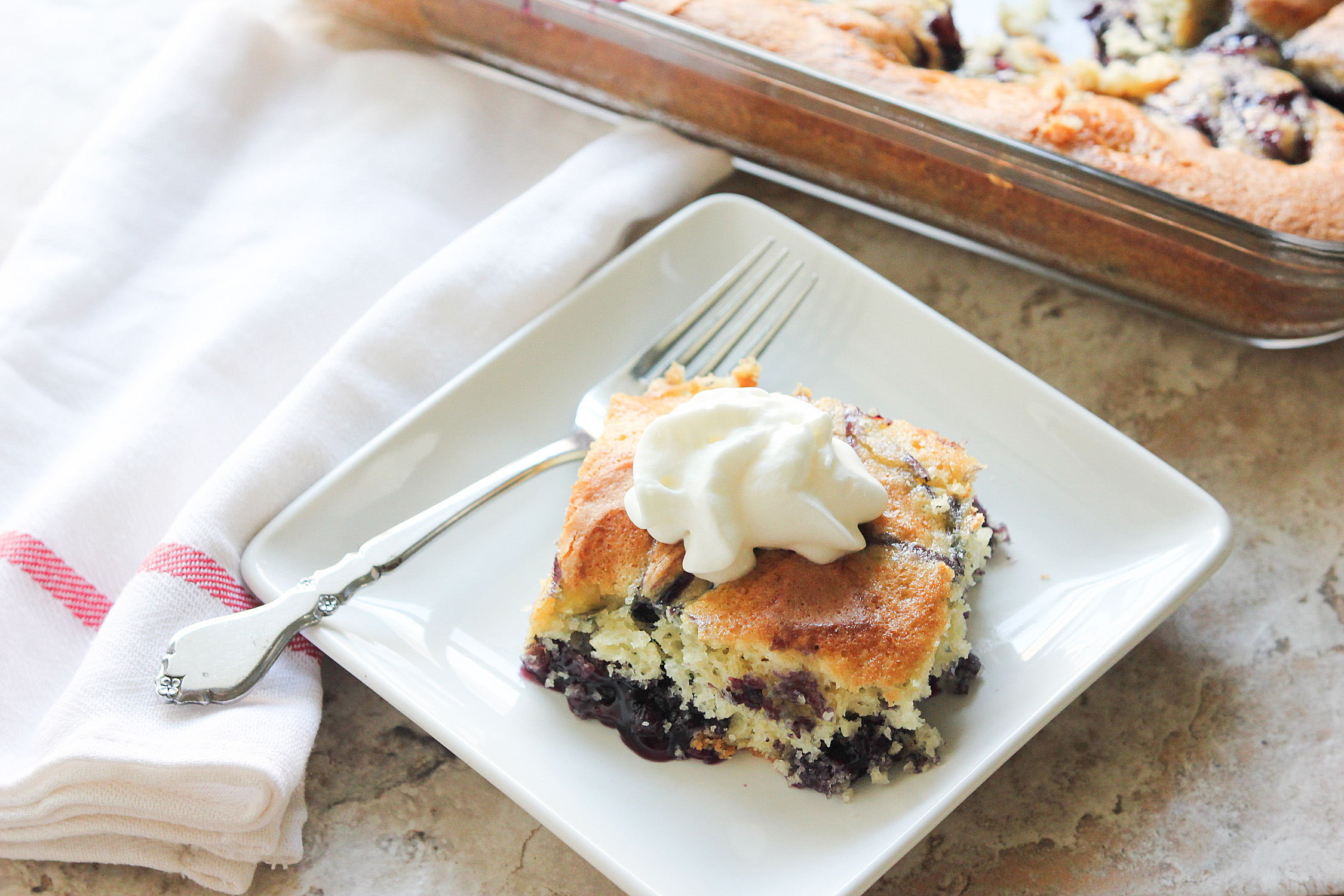 Blueberry Swirl Cake