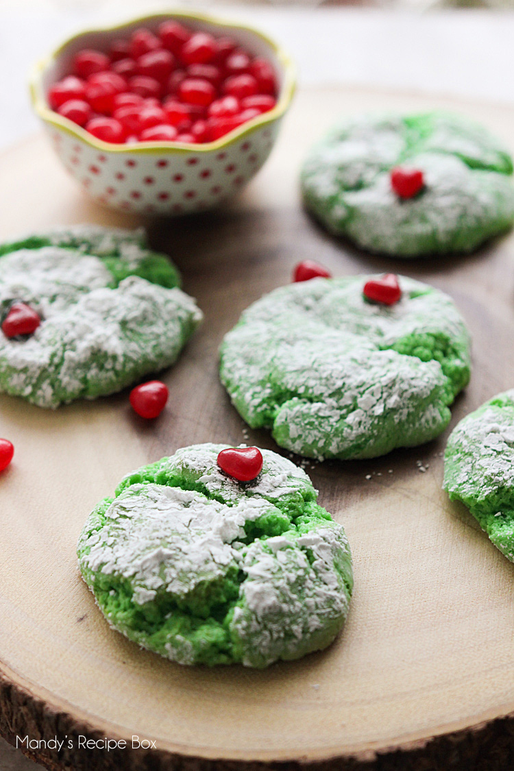 The Grinch Cake Mix Cookies
